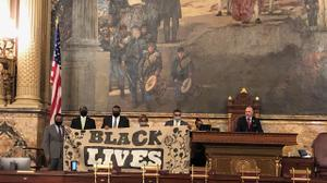 Pa. House Democrats blocked the start of a voting session to demand a special session to consider police reform bills in the wake of the killing of George Floyd and widespread peaceful protests.