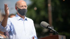 In recent weeks, Gov. Tom Wolf (seen here in Harrisburg on July 9) has repeatedly justified the decision, saying he provided ample warning to counties.