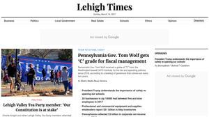 Screenshot of the Lehigh Times, one of 45 local news websites run in Pennsylvania by Metric Media, which has been found to fail basic journalistic standards for trustworthiness and credibility, according to a new report.