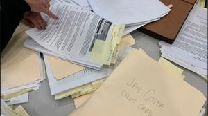 A file photo of campaign finance records