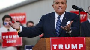 "Trump lawyer Trump lawyer Rudy Giuliani pressed his baseless case that the election had been stolen and the truth covered up by ""Big Tech"" and the mediapressed his baseless case that the election had been stolen and the truth covered up by ""Big Tech"" and the media."