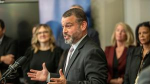 Pennsylvania Secretary of Education Pedro Rivera (seen here at the Community College of Philadelphia in November 2019)