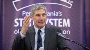 """The system will need to """"dramatically"""" accelerate a redesign aimed at increasing collaborations between schools while cutting costs, Chancellor Dan Greenstein said."""