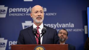 "The shutdown will be in place for two weeks, said Wolf, who urged residents to ""stay calm, stay safe, stay home."""