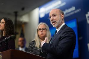 Gov. Tom Wolf and Secretary of Health Rachel Levine brief the media on two presumed cases of the new coronavirus, COVID-19.