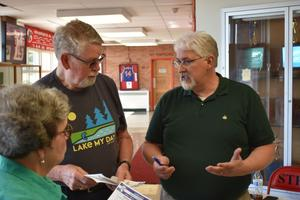 """""""I wasted the better part of five hours one day after the election sitting at the warehouse going through boxes trying to find applications for certain voters, because they would not believe me,"""" said Dauphin County Elections Director Jerry Feaser (right). """"They called me a liar."""""""
