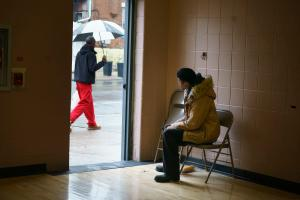 Poll watchers are different from poll workers who run in-person voting.