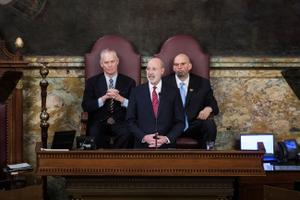 Wolf has said he won't abandon his $36.1 billion spending plan for the next fiscal year, and a spokesperson said he does not plan to introduce a modified budget proposal.