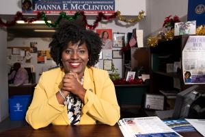 Joanna McClinton is a former public defender who began her career in politics in 2013 as chief counsel to Sen. Anthony Williams (D., Philadelphia).