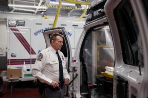 """Thomas Nolan, public safety director for Upper Merion Township, said he worries about the coronavirus """"constantly."""" His department has retrofitted certain ambulances to deal with the crisis."""