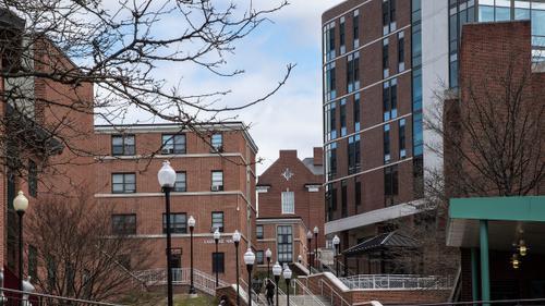 Bloomsburg University Campus is shown in Bloomsburg, Pa.
