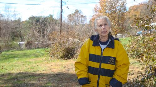 Deborah Basham, 63, at Meadowbrook Mobile Home Park in Mechanicsburg, Pa., along the Mariner East pipeline project, Wednesday, November 13, 2019.
