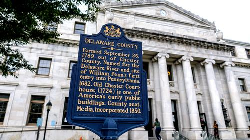 The Delaware County courthouse in Media Borough.