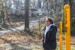 Lisa Jones, a mother of eight, lives at Meadowbrook Mobile Home Park in York County. Many residents of the community live less than 100 feet from the Mariner East pipeline system.