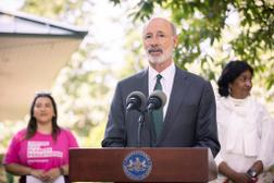 """""""Whenever an anti-choice bill comes to my desk, I will veto it,"""" Gov. Tom Wolf said on Thursday."""