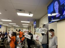 Unemployed workers and advocates from Pittsburgh and Philadelphia protest over more than 300,000 unemployment claims still waiting for review by the state Department of Labor and Industry. The department this week is launching a massive overhaul of its computer system.