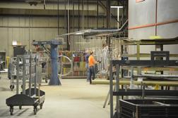 """Inside the PlayWorld facility in Lewisburg, where one worker questioned, """"how is playground equipment life-sustaining?"""""""