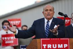 """Trump lawyer Trump lawyer Rudy Giuliani pressed his baseless case that the election had been stolen and the truth covered up by """"Big Tech"""" and the mediapressed his baseless case that the election had been stolen and the truth covered up by """"Big Tech"""" and the media."""