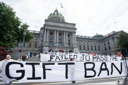Activists from MarchOnHarrisburg have been pushing for a gift ban for decades.