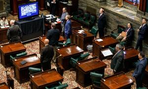 Both the state House and Senate have passed temporary rules allowing remote voting, yet some members still choose to come into the Capitol.