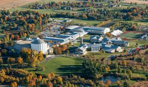 A view of the central Pennsylvania campus of the nation's wealthiest school, the Milton Hershey School.