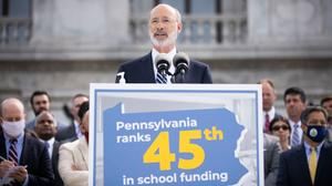 Gov. Tom Wolf, a Democrat, said he believed the decades-old state education funding formula is inadequate and has historically shortchanged schools in both urban and rural districts hanging on by a financial thread.