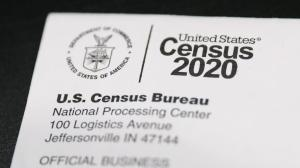 A Census 2020 envelope is pictured in Philadelphia on Thursday, March 12, 2020. As is customary every ten years, U.S. Census questionnaires have been mailed out to the country's households.