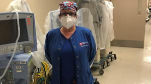 Maureen May, a nurse at Temple University Hospital and president of the PASNAP union, says her colleagues are making do with one surgical mask per day.