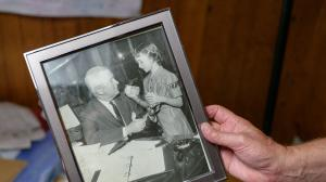 """Alice """"Candy"""" Loughney grew up in Pittsburgh, where her father, Joseph M. Barr (pictured here), was mayor. Candy, now 71, has Alzheimer's disease and moved into a long-term care facility in Monroeville after her symptoms became too much for her husband to manage."""