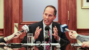 Senate President Pro Tempore Joseph Scarnati's campaign is seeking $6,070 from The Caucus, Caucus Bureau Chief Brad Bumsted, and Spotlight PA reporter Angela Couloumbis.