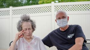 Pat Loughney (right) cared for his wife, Candy, in their home until she became ill after eating medicated soap. Candy is one of 280,000 Pennsylvanians over the age of 64 living with Alzheimer's disease, the most common cause of dementia.