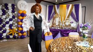 Karen Sawyer, seen here at The Party Palooza in York, is the kind of small business owner the state is trying to reach with a new grant program. Still, she hasn't applied.