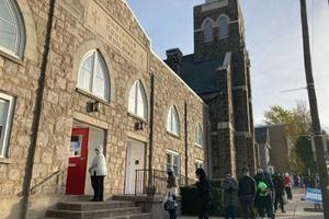 """""""Trust"""" was the word several voters in line at St. John's Windish Evangelical Lutheran Church used when explaining why they were voting in person in Bethlehem."""