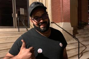 Martin Rodriguez, 31 at St. Anthony's Catholic Church.