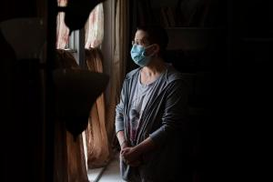 Stacey Horrocks (seen here at her home in Boyertown) applied for rent relief in March, but her application stalled in April when Berks County's program began trying to contact her landlord, Rose Gross.
