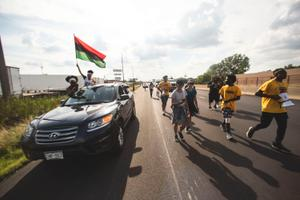 Civil rights marchers on a journey from Milwaukee to Washington, D.C. are seen here in Youngstown, Ohio.