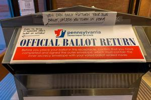 A ballot return box seen in Mifflin County. November 2020 was the first general election with no-excuse mail voting.