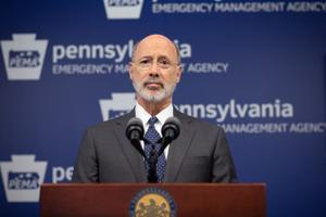 Gov. Tom Wolf told reporters his administration is still being transparent during the COVID-19 pandemic.