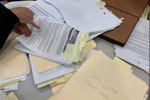 A file photo of campaign finance records