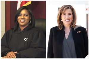 Superior Court candidates Timika Lane (left) and Megan Sullivan.