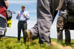 """""""Our seasonal workers are sometimes forgotten by consumers, but their skills are vital in the commonwealth,"""" Agriculture Secretary Russell Redding said Tuesday at a news conference."""