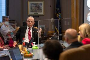 The panel's chair, teacher Christopher Santa Maria, and board member Frank Ryan (seen here), a Republican state representative from Lebanon County, have also told board members they were considering asking for an investigation into the disclosures, according to people familiar with the matter.