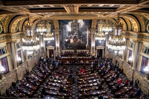 Gov. Tom Wolf used his veto power to nix a record 19 bills passed by the legislature in 2020 — 15 more than he did in 2019.