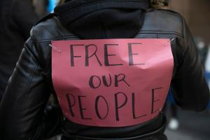 Advocates say prisons and jails need to release more inmates to ensure proper social distancing. Protesters rallied in Philadelphia this April to make that demand.