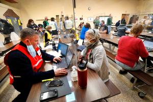 This community vaccination clinic in Sullivan County last month could serve as a model for other places in the state where access to vaccine providers and other limitations pose distribution challenges.