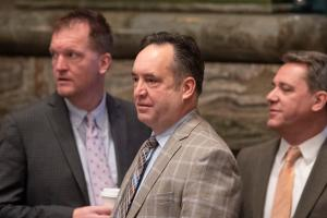Senate Majority Leader Jake Corman is widely considered next in line to ascend to the chamber's top leadership post.