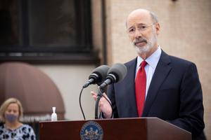 """In March, Gov. Tom Wolf shuttered all but """"life-sustaining"""" businesses to slow the spread of COVID-19."""