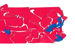 Pennsylvania's congressional map is drawn by the 253-member General Assembly and must be approved by the governor.