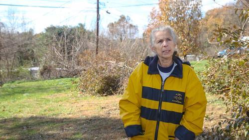 Deborah Basham, 63, at Meadowbrook Mobile Home Park in Mechanicsburg, Pa., along the Mariner East pipeline project, Wednesday, November 13, 2019.